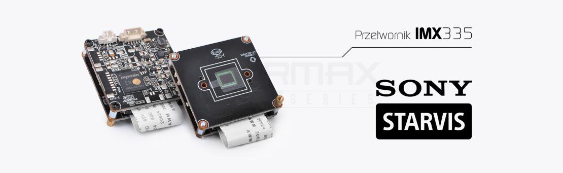 Przetwornik obrazu SONY STARVIS model IMX335. Kamery 4-systemowe 5.0 MPx serii EVX-FHD EVERMAX.