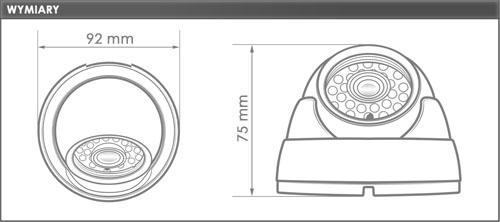 EVX-E171-ICR-960H Kamera kopułowa EVERMAX