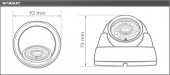Kamera EVX-E172-ICR-960H EVERMAX