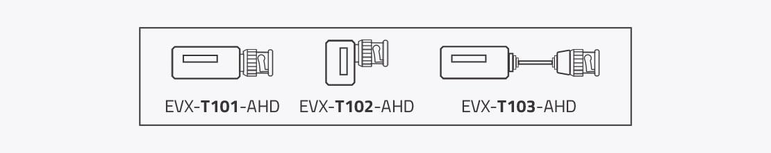 Trzy wersje transformatorów EVX-T1xx Evermax różniące się konstrukcją