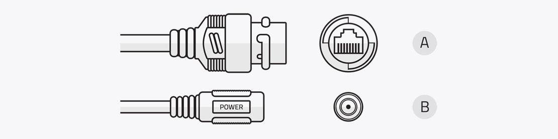 Zewnętrzne przewody kamer serii EVX-IP EVERMAX